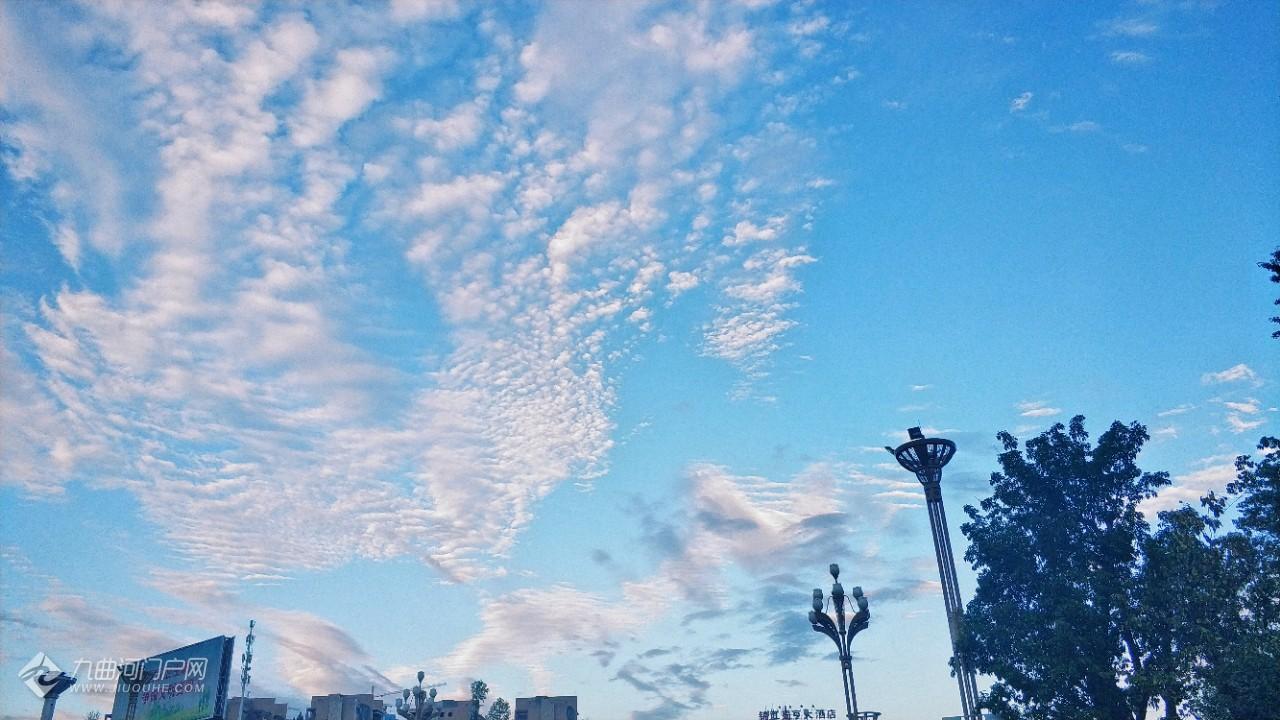 资阳今天的天空,美到窒息