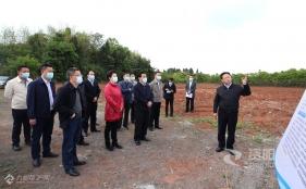 廖仁松在资阳高新区调研项目建设工作
