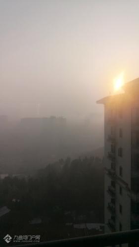 清晨烟雾缭绕的资阳!