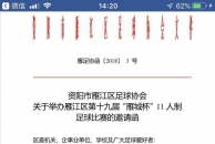 乐虎app手机版市雁江区第十九届雁城杯11人制足球赛