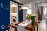 45平一居室,U型厨房好看实用,洗衣机放卫生间,值得借鉴!