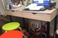 1米长白色书桌转让,淘宝购入,80可小刀!
