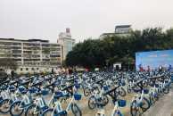为了我们的一片蓝天助力,上午8点半不少骑行爱好者以实际行动参与绿色出行!
