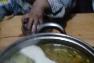 骨头大枣,枸杞,白味汤自做的白味火锅底料