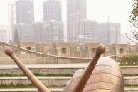 美丽的18新利官方下载沱西景观带吸引来大蜗牛,还有花姑娘在此安家!不信?你看!