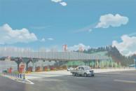 重修后的雷竞技下载链接西高速公路收费站,高大上双向16车道!美丽雷竞技下载链接欢迎您!