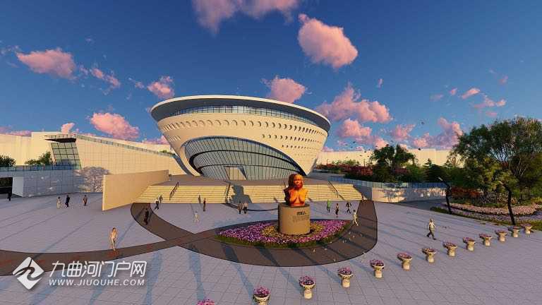 航拍多图,换个角度看资阳博物馆,玻璃幕墙已完工!