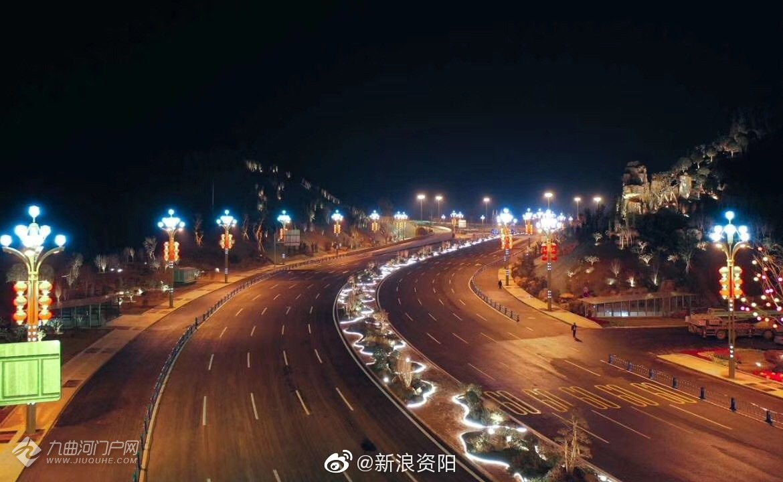 航拍下的成渝高速资阳站立交桥
