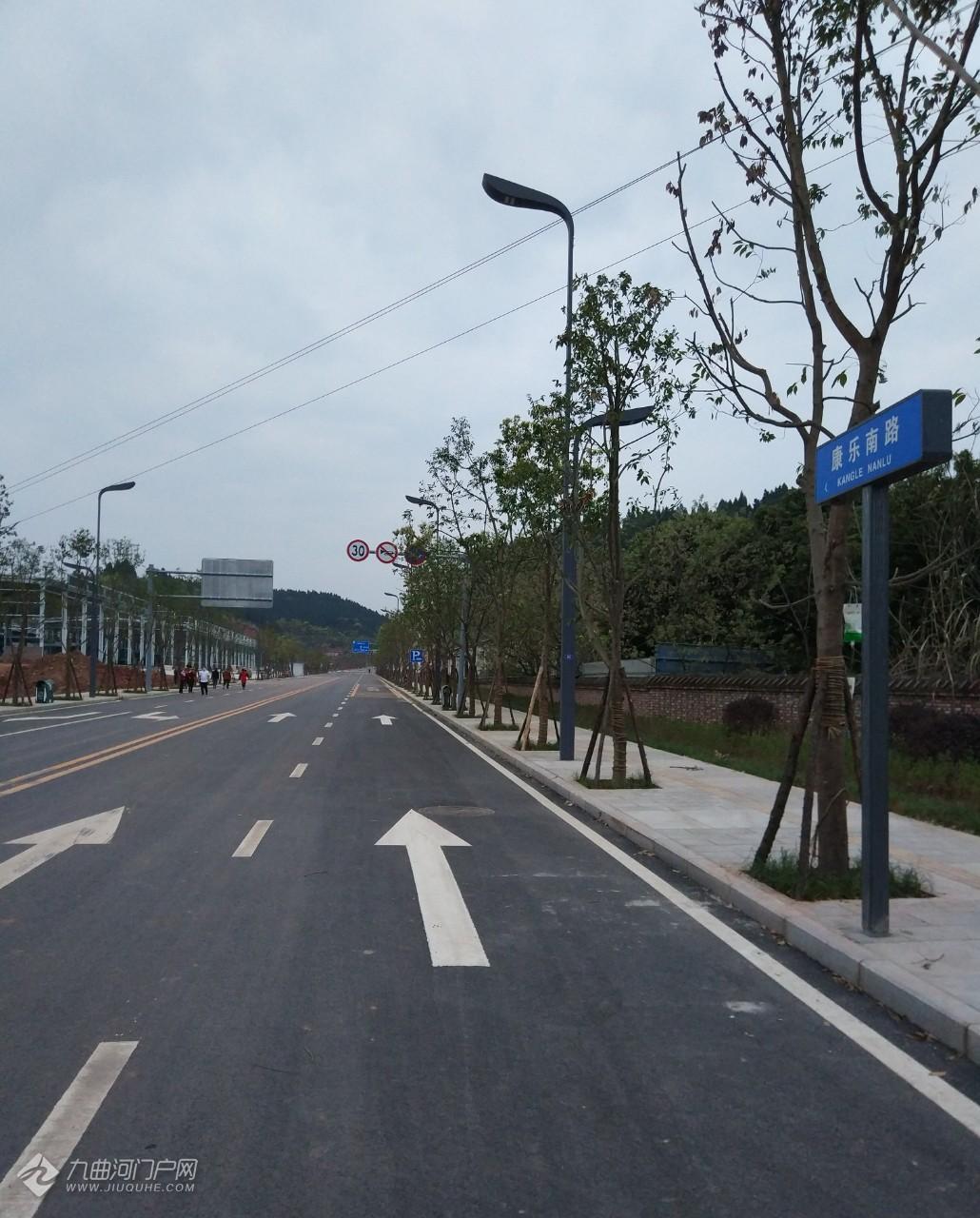 康乐南路竣工将投用,连接外环路和大千路,中间与民福路相连!