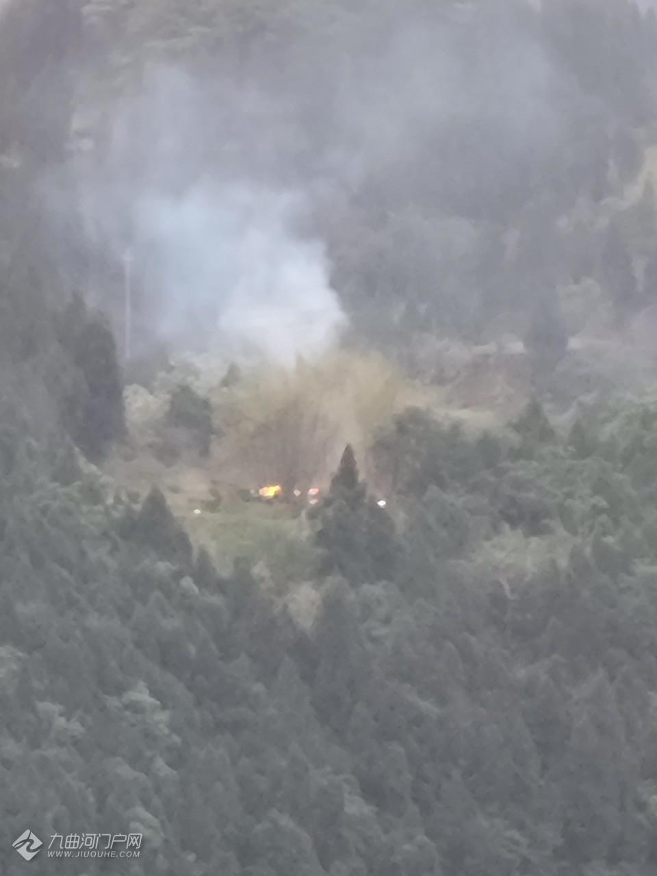 突发!资阳高速服务区背后的山上着火了……