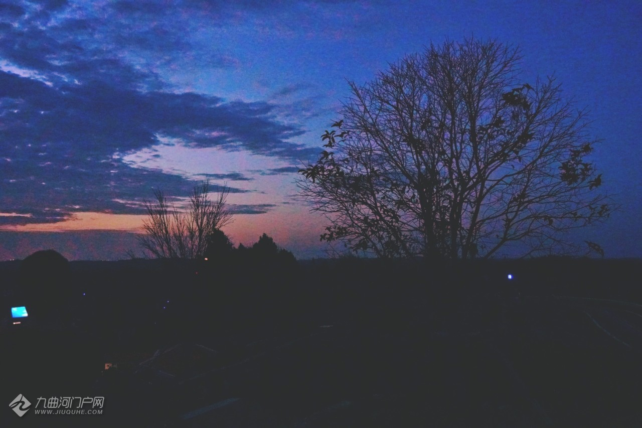 夜游资阳高洞村,看晚霞星辰,听阵阵犬吠,感受不一样的惬意生活