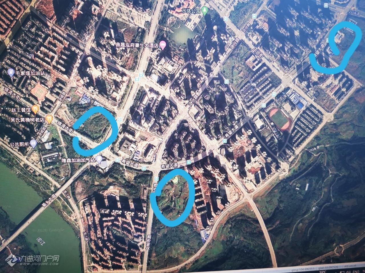 资阳吾悦广场位置探讨!希望大道可以修的位置不多啊,就这三个点有可能! ... ...