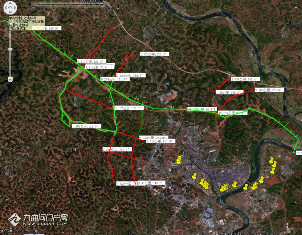 临空经济区今天开工二期项目道路 卫星解析图