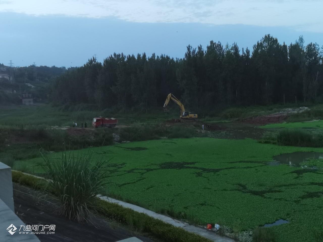 资阳的青年林改造已基本完成,任何车辆已不能通过施工便道进入湿地公园!