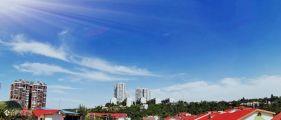 今天的资阳蓝不错!